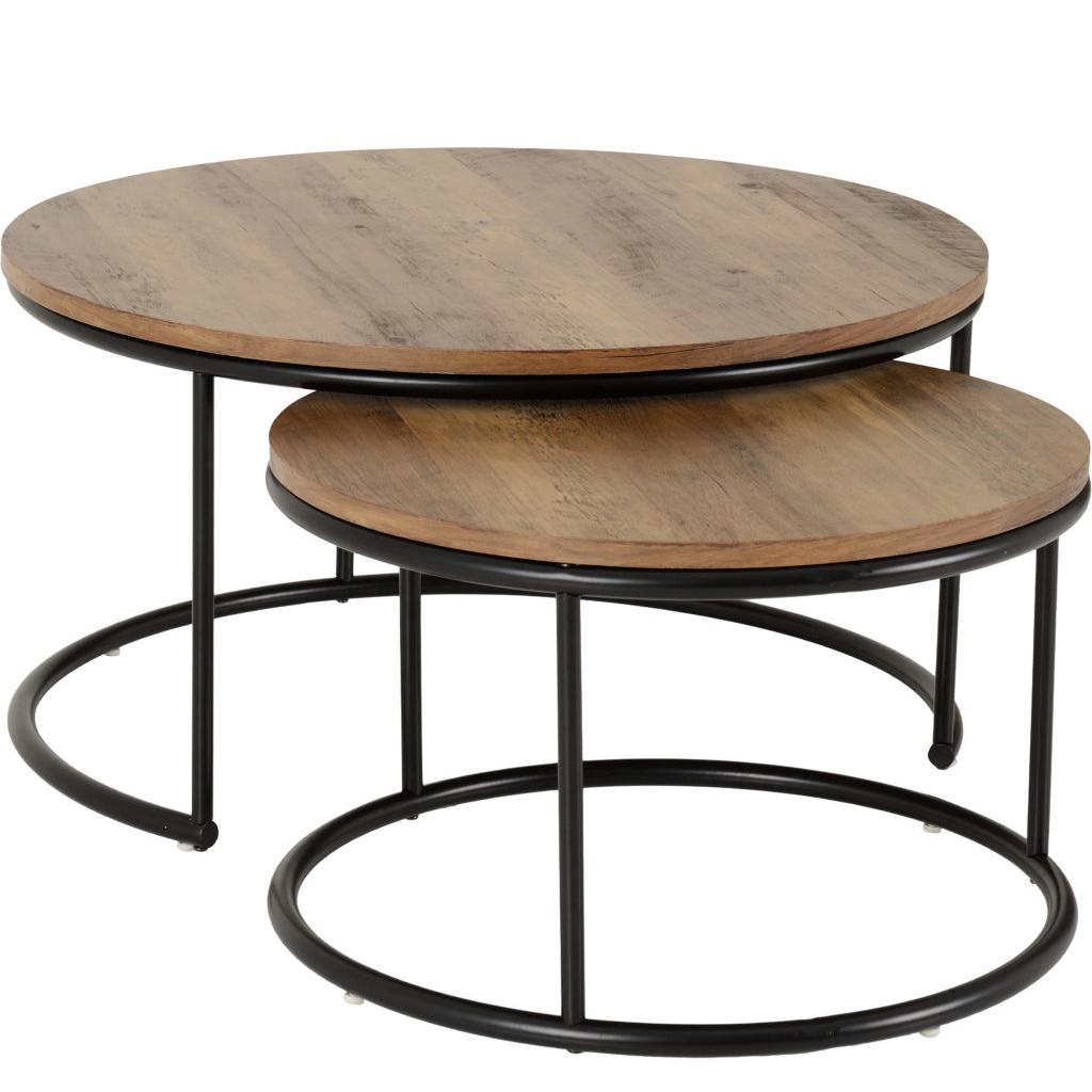Quebec Round Coffee Table Set Medium